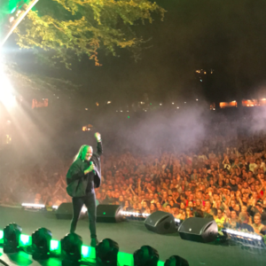 Søs Fenger concert at Brundby Rockhotel, Odder on 10 July 2020